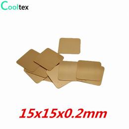 Wholesale Copper Pad Cpu - Wholesale- 20pcs lot 15x15x0.2mm DIY Copper Heatsink Heat Sink Shim Sheet Thermal Pad For Laptop GPU CPU VGA Chip RAM