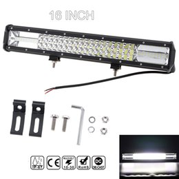 Wholesale led trucks - 7D 16 Inch 360W Car LED Worklight Bar Triple Row Combo Offroad Light Driving Lamp for Truck SUV 4X4 4WD ATV CLT_42M