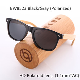 Wholesale Brown Friends - BARCUR 2017 Real Polarized Wood Bamboo Sunglasses Retro Men and Women Luxury 100% Handmade Vintage Glasses for Friends as Gifts