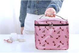 Wholesale Box Korea - Cosmetic bag Korea cute travel large capacity waterproof multi-functional cosmetic bag