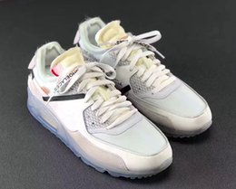 Wholesale Denim Casual Sneakers - New Brand 1990 Off White x Air 90 Ice 10X AA7293-100 Sports Shoes for Women Men 90 Casual Sneakers Size 40-46 Free Shipping
