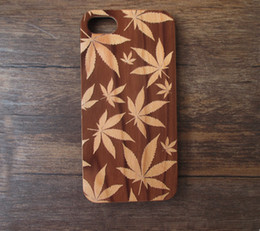 Wholesale Design Cellphone Cases - Attractive design Real Wood Mobile Phone Case Cover Hard Bamboo Wooden Protective Cellphone Case For Iphone 7 6 6s plus Samsung