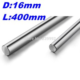Wholesale 16mm Shaft - Wholesale- Free shipping 16mm - L400mm chrome plated Cylinder Linear Rail Round Rod Shaft Linear Motion Shaft for CNC XYZ