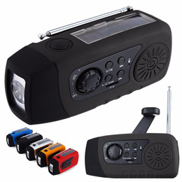 Wholesale Solar Battery Charger Speaker - N29TF Multifunctional portable Speaker Emergency Solar Hand Crank FM Radio MP3 Player Phone Charger Support TF Card for Outdoor