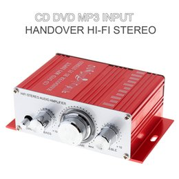 Wholesale Mini Stereo Sound Digital Power - Handover Hi-Fi Mini Digital Motorcycle Auto Car Stereo Power Amplifier Sound Mode Audio Support CD   DVD   MP3 Input CEC_800