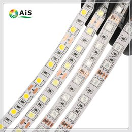 Wholesale Dc Color - DC 12V RGB Single Color LED Strip 5050SMD 5M 300LEDs IP65 Waterproof Fita LED Light Strips Flexible Neon Tape LED 12V Ledstrips Lighting