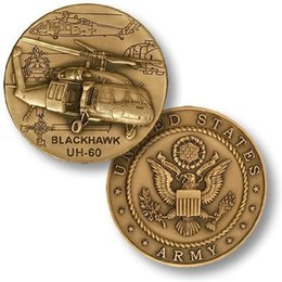 Wholesale Uh Helicopter - US Army UH-60 Black Hawk Helicopter Commemorative Coin Token