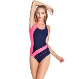 Wholesale sport one piece - Women Professional Sport Triangular Piece Swimsuit One Piece Swimwear Bathing Suit Brazilian Bathing Suit S to XXL Size