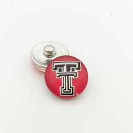 font incisione Sconti 20pcs NCAA Tech Sports Team vetro pulsante scatta gioielli misura per 18mm braccialetto di fascino di buona qualità