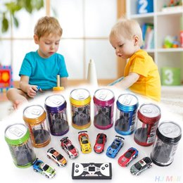 Wholesale Coke Wholesale - Creative Coke Can Remote Control Mini Speed RC Micro Racing Car Vehicles Gift For Kids Xmas Gift Radio Contro Vehicles 1:64
