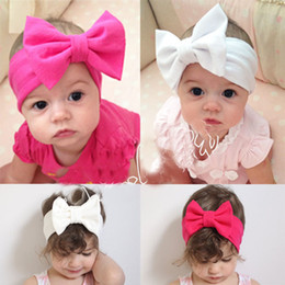 Wholesale Bow Knot Hair - Baby Kids Girl Child Toddler Infant Flower Floral Bow Hairband Turban Knot Headband Headwear Hair Band Accessories