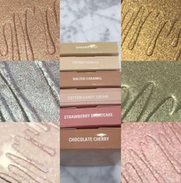 Wholesale Candies Colors - NEW Kylie Kylighter Glow Kit Highlighter 6 color Kylie Cosmetics French Vanilla Cotton Candy Salted Carmel Highlighter Glow Face Makeup