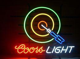 La birra al neon segna la caverna dell'uomo online-Coors Light Freccette Beer Man Cave luce al neon 24x20
