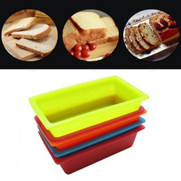Wholesale Bake Bread - DIY Silicone Toast Box 25*13.5*6.5cm Rectangular Cake Mold Bakeware Maker Pastry Bread Cake Kitchen Baking Tools OOA3350