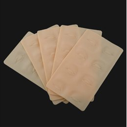 Wholesale Cosmetic Makeup Practice Skins - 5Pcs Lot High Quality Tattoo Practice Skin 3D Cosmetic Permanent Makeup Eyebrow Eye Practice Skin