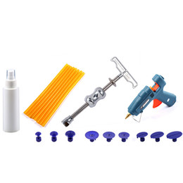 Wholesale Pdr Glue Puller Kit - Auto Body Repair Tool Kit PDR Paintless Dent Repair Hand Tool Sets Slide Hammer Puller Glue Tabs Set Fast Shipping