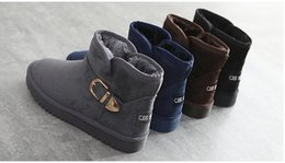 Wholesale Korean Flats Boots - New short snow boots winter Korean version of the cashmere warm boots casual cotton shoes female