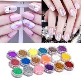 Wholesale powder acrylic - 18Colors set Nail Art acrylic Glitter Nail Art Tool Kit Acrylic UV Powder Dust gem Polish Nail Tools,Nail Art Tip Decoration