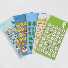 Wholesale Wholesale Kids Sticker Albums - Wholesale- 1 Pcs Diy Cartoon 3d Sponge Bubble Sticker Frog Duck Duckling Bunny Amusement Park Kids Toy Notebook Album Planner Memo Sticker