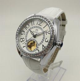 Wholesale Watch Belt China - Mechanical Watches Brand Women Belt Digital Decorated Diamond Watch China Cheap Label Automatic Hollow White Watch
