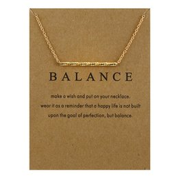 Wholesale Gold Snake Link Necklace - New Design Balance Wood Straight Bar Charm Necklace Gold & Silver Plated Chain Snake Bone Pendant Necklaces Women Fine Jewelry A335