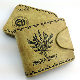 Wholesale rock accessories men - Game Monster Hunter Wallet Purse Ellione cat PSP Cosplay Costume Accessory Props Bag