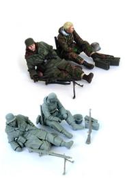 Wholesale Ww2 Soldier - Wholesale- 1 35 scale resin model figures kit WW2 German soldiers 2