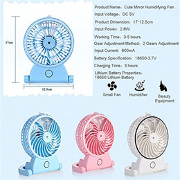 Wholesale Portable Personal Fans - Portable Fan Personal Cooling Mist Humidifier Handheld Rechargeable Mini USB Misting Water Spray Fan