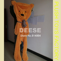 Wholesale Empty Teddies - Wholesale- 2016 Plush toys 140cm teddy bear empty shell coat bear skins Light purple with zipper Christmas Valentine's Day, birthday Gifts