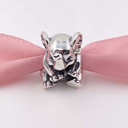 branelli di fascini elefanti Sconti Autentico 925 Sterling Silver Beads Lucky Elephant Charm Adatto europeo Pandora gioielli stile collana bracciali 791902 Animal