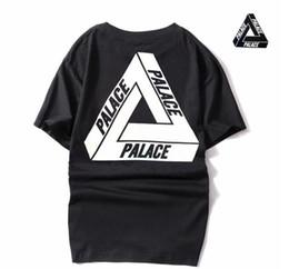 Wholesale Basic White Tee - Palace Skateboards Classic Triangle Print T-shirt Mens Basic Summer Noah Clothing Hip-hop Cotton Short Sleeve Tshirt Tee