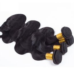 Wholesale Thick End Unprocessed Hair - Vinsteen Unprocessed Peruvian Brazilian Malaysian Hair Bundles Real Remy Body Wave Human Hair Extensions 4 pcs Thick Ends shiny Hair Weaves