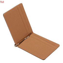 Wholesale Thin Wallet Id - New South Korea Men Multifunctional Magic Wallets Money Clips Leather Card ID Holder Slim Business Ultra-thin Men Male Wallet SV013613
