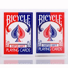 Wholesale Bicycles For Kids - Red Blue 2015 Bicycle Super Gaff Deck Playing Cards Magic Category Poker Cards for Professional Magician