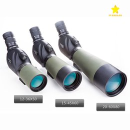 Wholesale Wholesale Monocular - 12-36x50 15-45X60 20-60X80 Zoom HD Monocular Outdoor Telescope with Portable Tripod Night Version with Retail Package