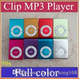 Wholesale Mp Electronics - 50x Clip MP3 Players With TF Card Slot Electronic Products sports Metal mini Mustic Player MP3 Player+earphone+USB Cable+retail box A-MP