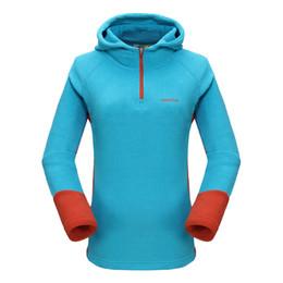 Wholesale Women S Coat Thermal - Wholesale- Grail New Women Outdoor Thermal Coat Windproof Hoodies Camping Hiking Fleece Jacket Running Long-sleeve Female Sweatshirt 7320A