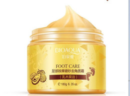 Wholesale wholesale foot cream - 120pcs BIOAQUA 24K GOLD Shea Buttermassage Cream Peeling Renewal Mask Baby Foot Skin Smooth Care Cream Exfoliating Foot Mask