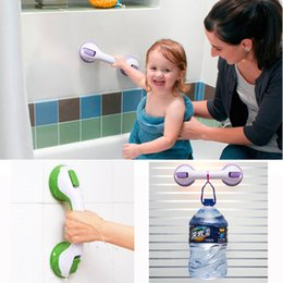 Wholesale Grip Safety Bar - New Super Shower Support Grab Bar Grip Suction Cup Tub Bath Bathroom Safety Handle Non-slip safety handrail Free Shipping