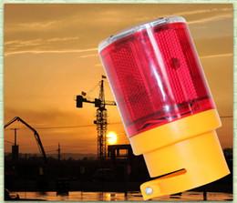Wholesale Traffic Warning Lights - Wholesale- Traffic Warning Light Led Solar Signal Beacon Lamps Industrial Road Lightsoutdoor lighting led solar alarm light 4pcs lot