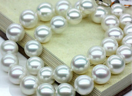 Wholesale White Pearls Buy - Best Buy Pearls Jewelry CLASSIC 12-13MM SOUTH SEA AAA WHITE ROUND PEARL NECKLACES20INCH