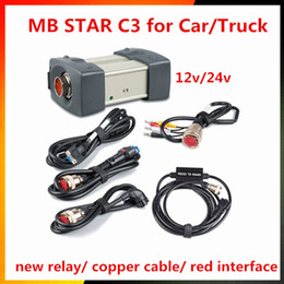 Wholesale Mb Star Diagnostic Scanner - 12 24v DHl Free Shipping MB STAR C3 OBD2 Scanner MB STAR C3 for Mercedes Benz car truck diagnostic tool without HDD software
