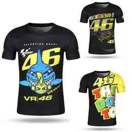 Wholesale Bike Motors - 3 Style Tops Valentino Rossi VR46 46 Tee Shark Motocross Jerseys bike Cycling Racing Motorcycle Bicycle Motor QUICK-DRY Short Sleeve T shirt