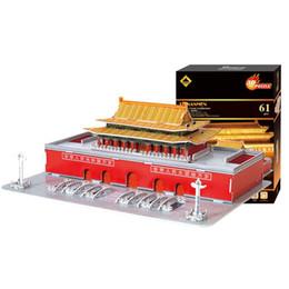 Mesas de rompecabezas online-3D Tiananmen Square Arquitectura Modelo Puzzle Woodiness Tridimensional Originalidad DIY Juguetes Juguetes Inicio Swing Table Ornamento 9 9qs G1
