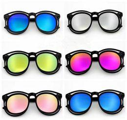 Wholesale Girl Butterfly Top - Korean Style Children Sunglasses Kids Girls Boys Hollow Design Sunglass UV Protection Summer Beach Travel Eyewear Top Quality