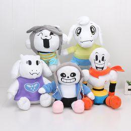 Wholesale Ems Toys - EMS Undertale Sans Papyrus Toriel Asriel Temmie Plush Toys Dolls Stuffed Toys 22cm - 27CM kids toys gift