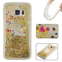 Wholesale Lg Star Cover - Quicksand Liquid Soft TPU GEL Case For Samsung Galaxy S5 S6 S7 EDGE LG Stylus 2 Stylo LS775 Flow Dynamic Glitter Star Love Heart Skin Cover