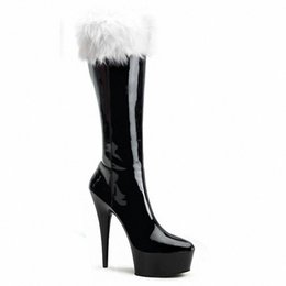 Wholesale wholesale knee high boots - Woman boots winter autumn Christmas boots cosplay party shoes new style fashion shoes knee boots
