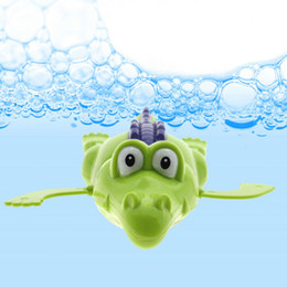 Wholesale Wholesale Windup Toys - Wholesale- New Baby Bath Swimming Toy Baby Bath Toy Funny WindUp Clockwork Dabbling Toy Crocodile for Kids Toys Gifts
