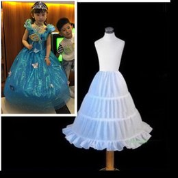 Wholesale Free Kids Pageant Dresses - Free Shipping Organza Long Crinoline Underskirt Petticoat for Kids Flower Girl Pageant Dress Children Petticoat 55cm